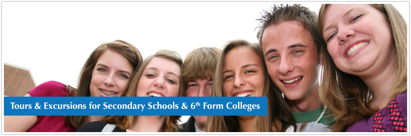 Secondary school & 6th Form Colleges educational excursions & tours